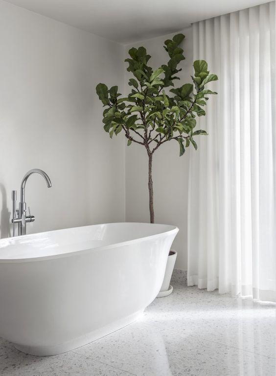 Master Bathroom with Floor in Terrazzo | Bathtub from Albert & Victoria