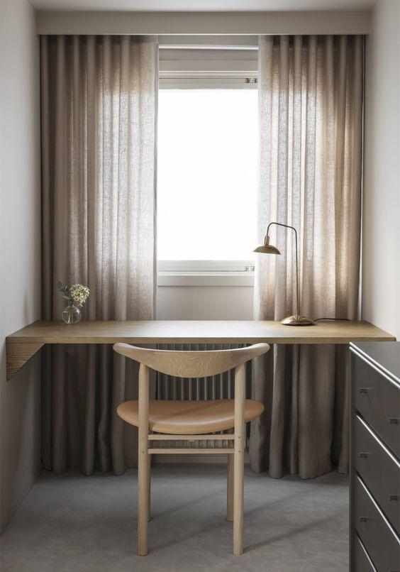 Customized Desk by Liljencrantz Design | Chair from Nikari | Lamp Eximius from Lightworks