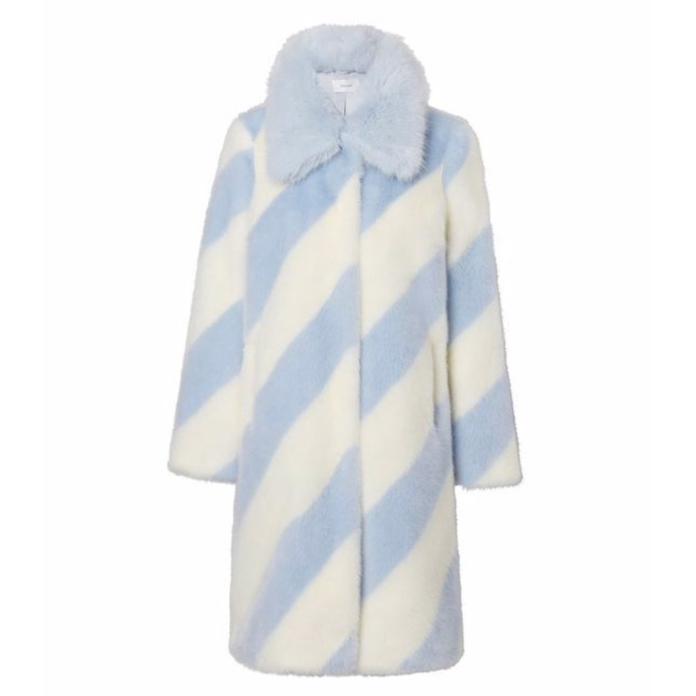 faux fur coat - Georgine Baby BlueStand