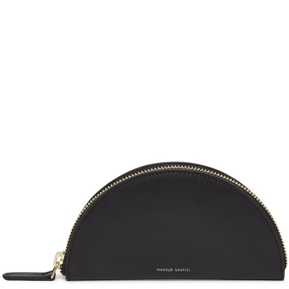 Mini moon wallet - Black Calf SkinMansur Gavriel