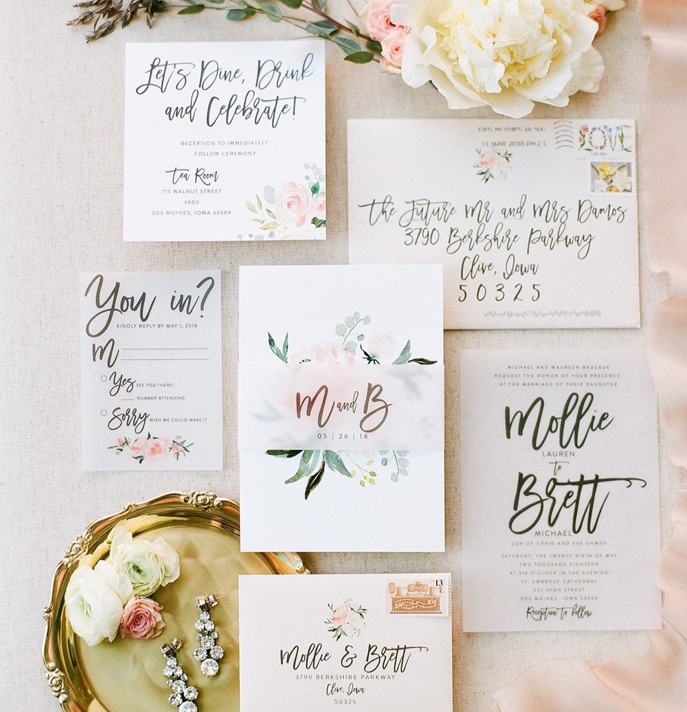 WEDDING INVITATIONS - Set the tone for your big day with one of our carefully curated wedding suites. With the freshest fonts, papers, and design options, we offer the most up-to-date finishings.