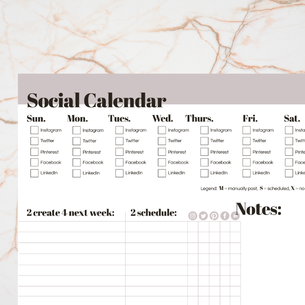 Social Calendar | Download | Seed Design Consultancy