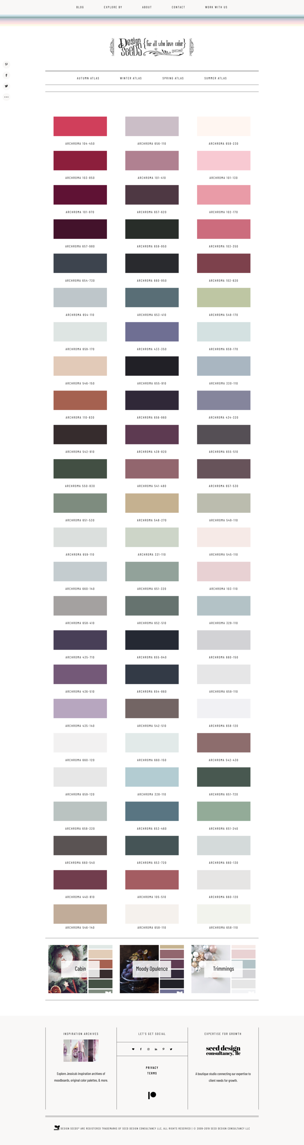 seed; Winter   Issue no.3   palette overview