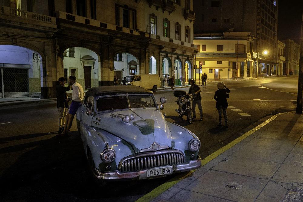 Night life. Havana Vedado, Cuba.