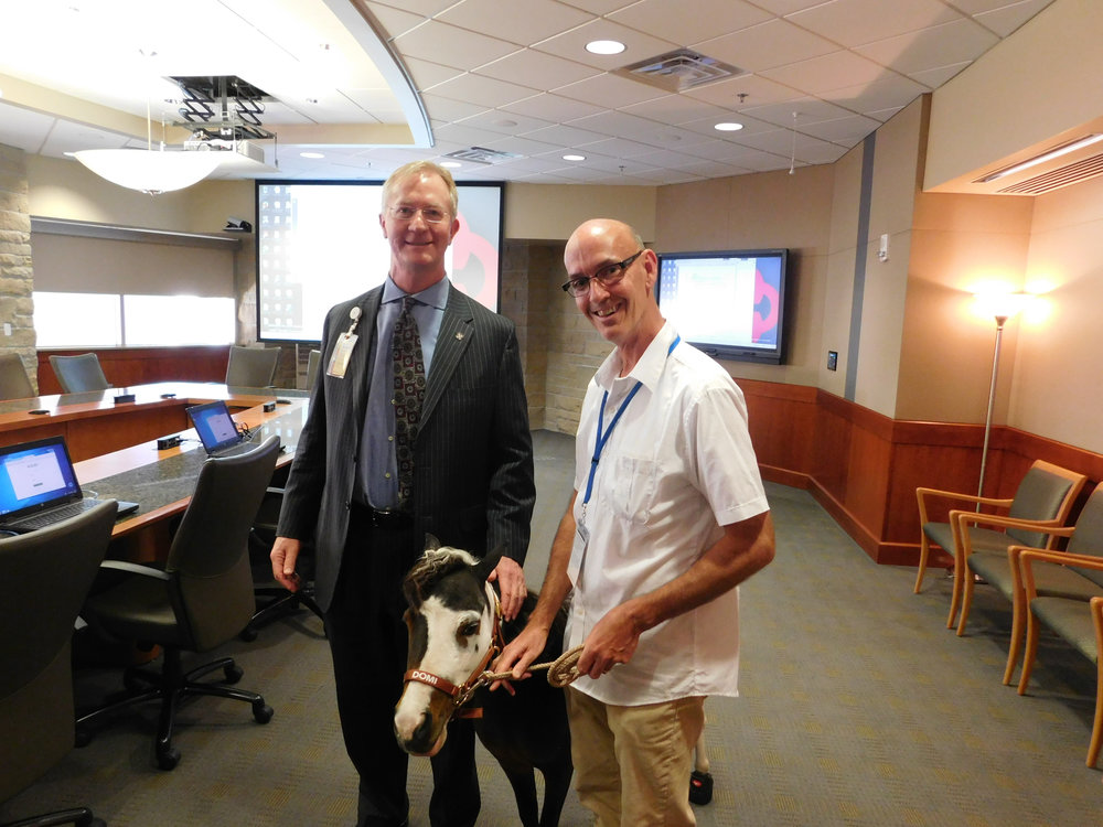 Rodney Reider at the Saint Alphonsus Health System, Therapy Horse