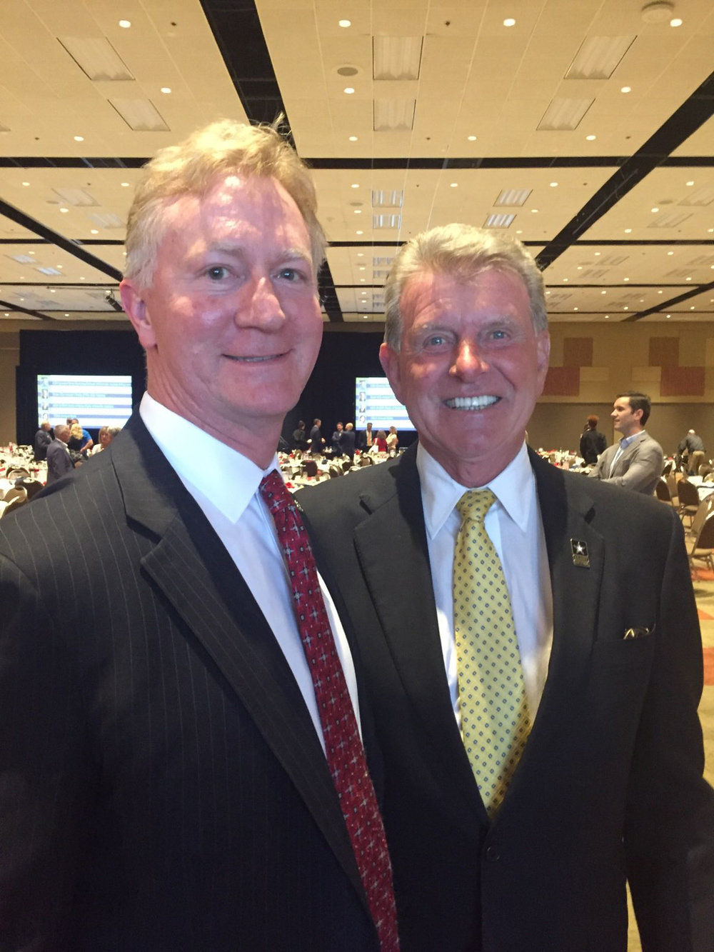 Rodney Reider with then Idaho Governor Butch Otter