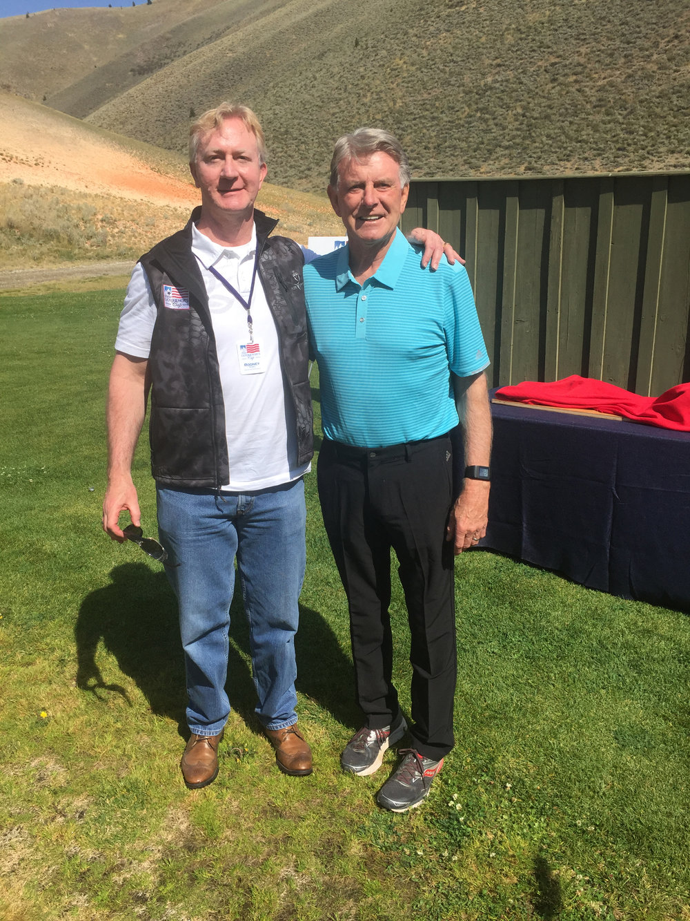 Rodney Reider out with the Governor of Idaho, shooting practice