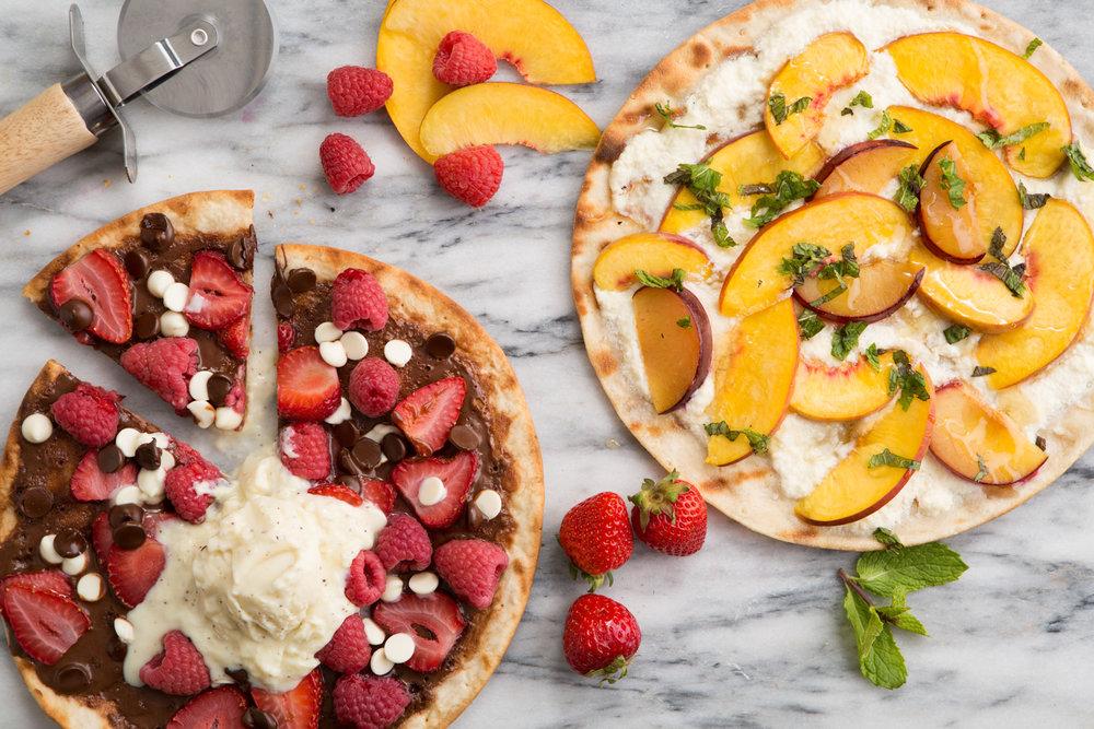 Fresh Fruit Grilled Pizzas (Door to Door Organics)