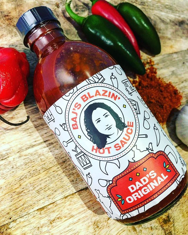 Baj's BlazIn' Hot Sauce - Created in the Royal Borough of Greenwich