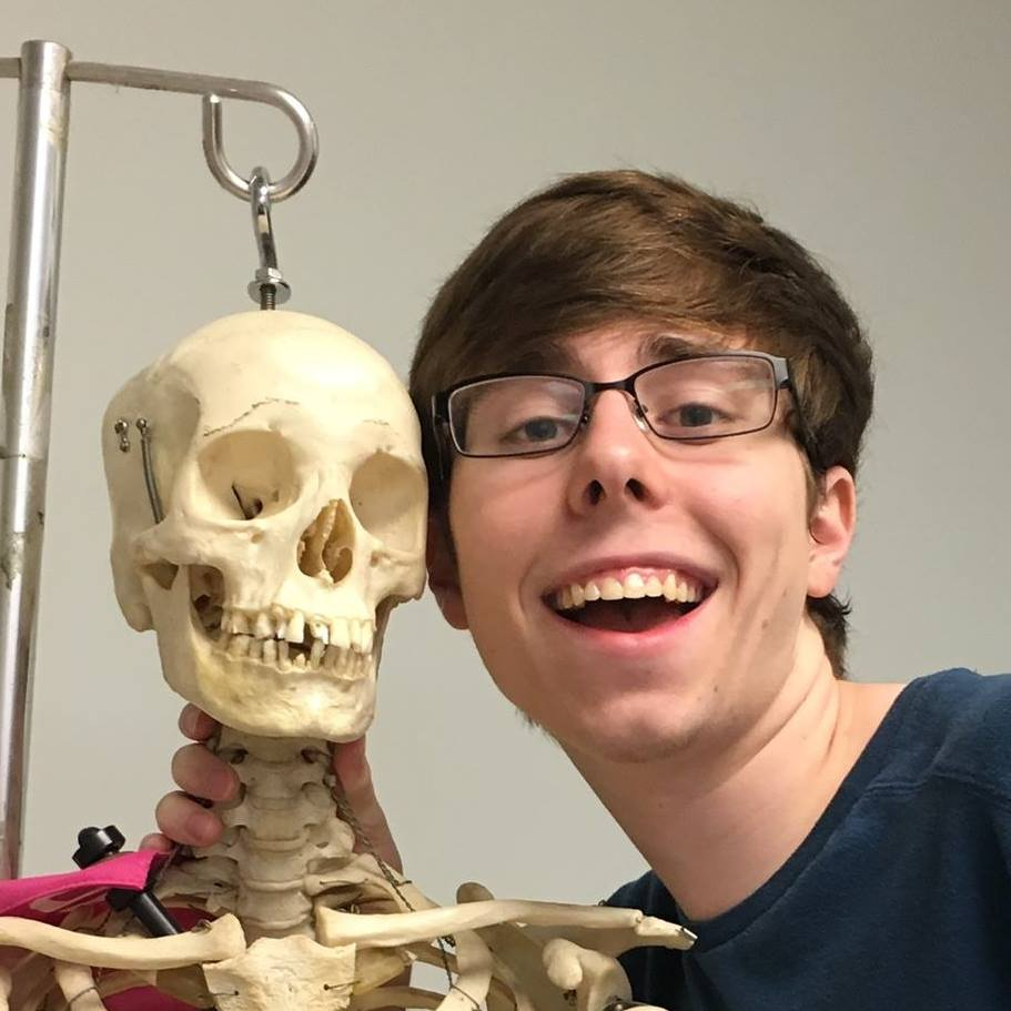Brandon, Brandon, he's our man! If he can't do it, the skeleton can!