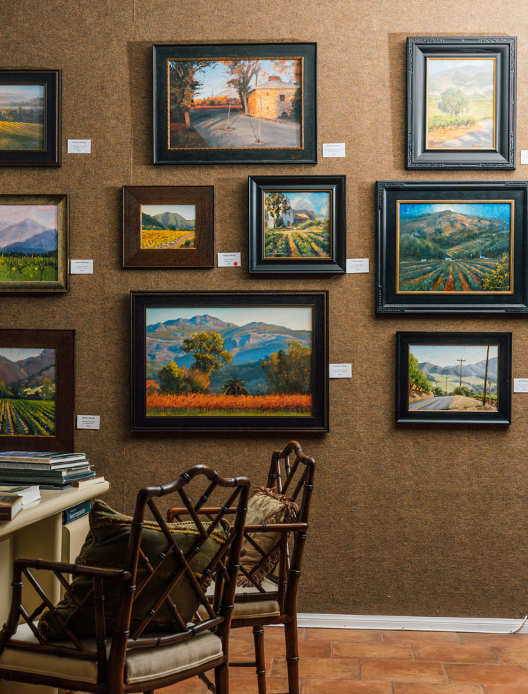 Santa Barbara Fine Art Gallery - Nestled in the Historic Art District, across from the Arlington Theater in the romantic city of Santa Barbara, CA, is where you will find Santa Barbara Fine Art. Representing established and upcoming local artists. Artist in residence Richard Schloss is an iconic Santa Barbara California Landscape painter whose paintings can be found in permanent collections of 4 museums.