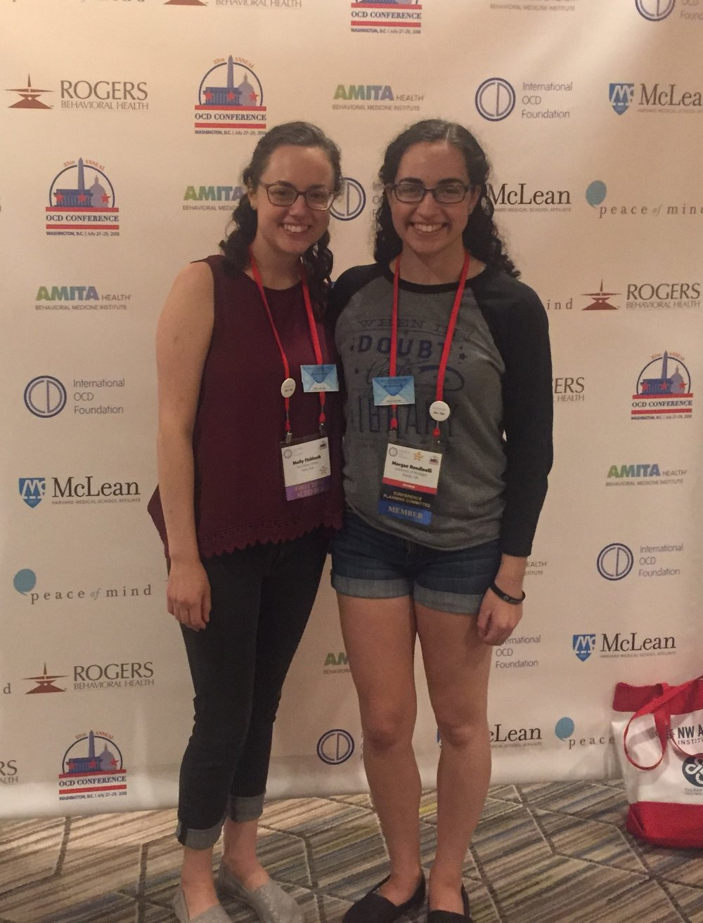Molly and Morgan at OCDcon 2018
