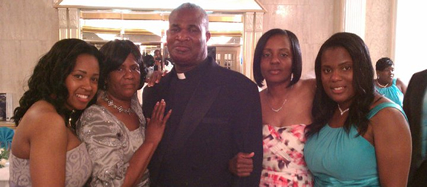 Senior Pastor Rev. Curtis V. Peart  & Family