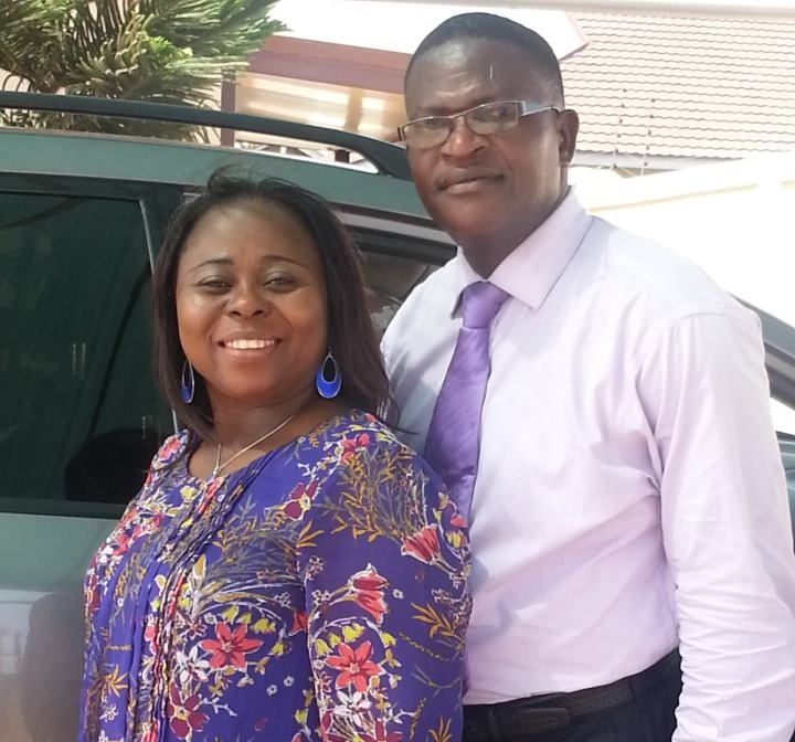National Superintendent of PCG Ghana Bishop Pasival Fafalie Selly and His Wife Jennifer Emefa Selly.