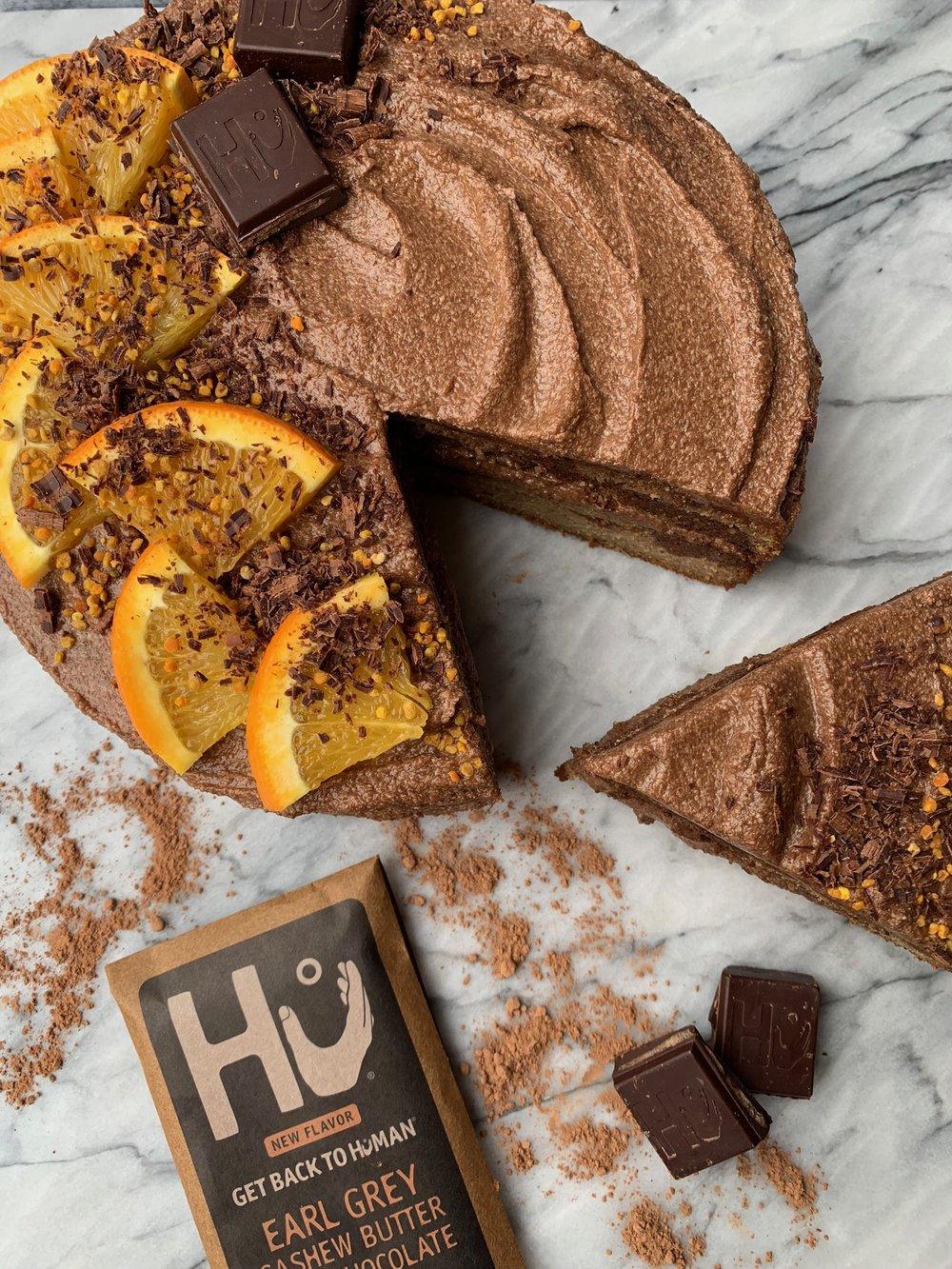 Chocolate And Vanilla Orange Marble Cake