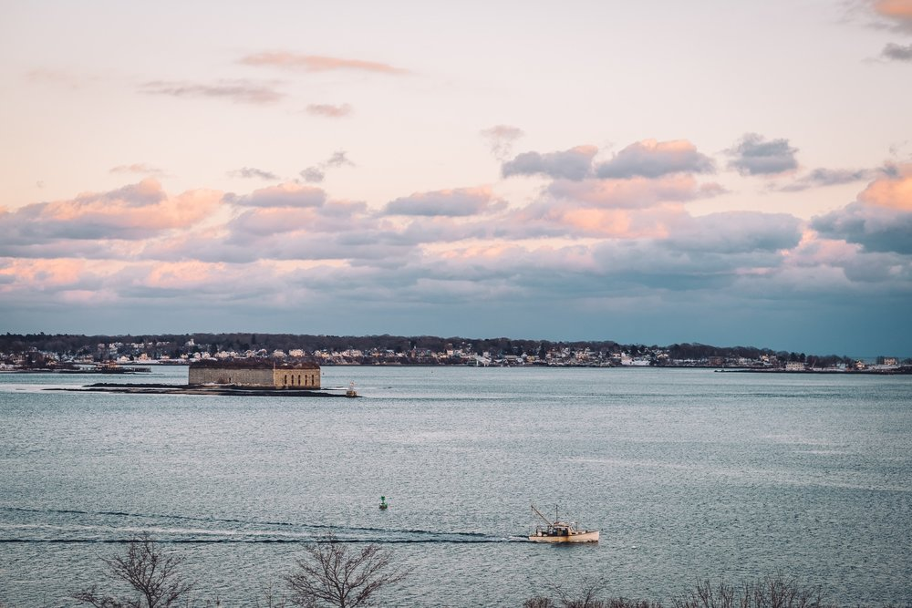 Fort Gorges and Peaks Island