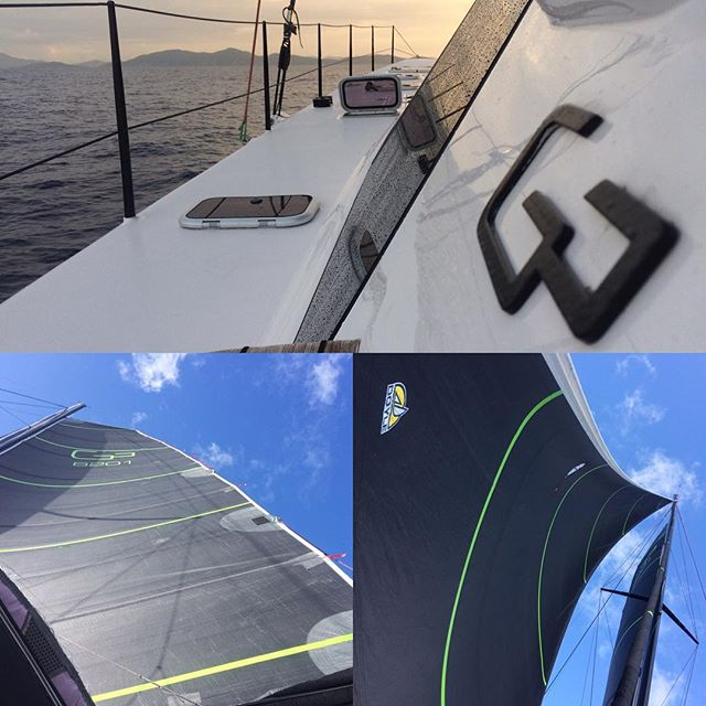 Love City Ahead! Sailing in on #Tribe Great delivery from Beaufort, NC to USVI w/ amazing friends! #6201 #Gunboat #Multihull #YachtDelivery