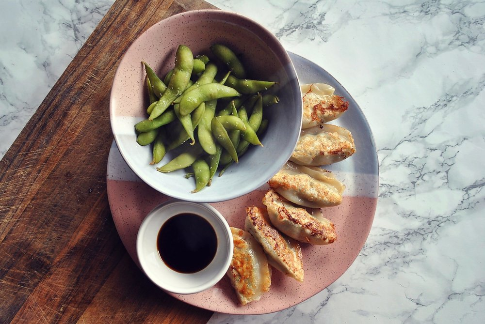 The-Hungarian-Brunette-Balanced-Diet-Gyoza-Dumplings-and-Edamame.jpg