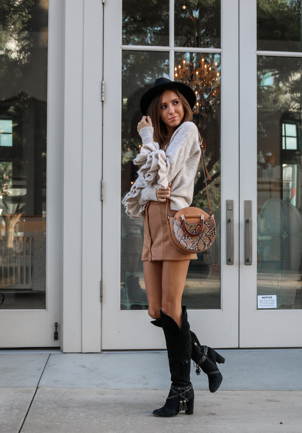 The Hungarian Brunette OOTD boho vibes thanksgiving outfit