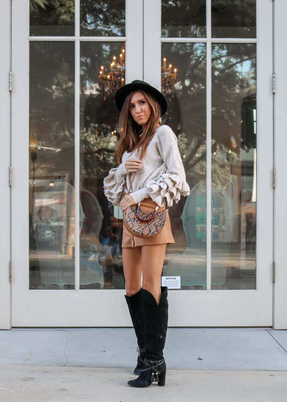 The Hungarian Brunette OOTD Thanksgiving outfit
