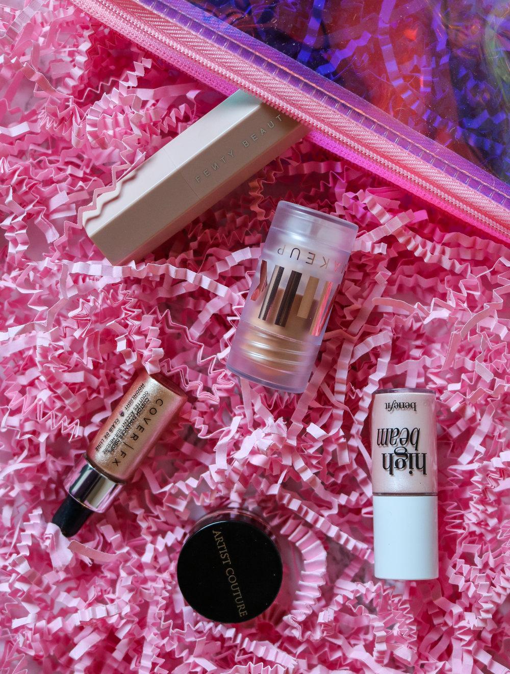 The Hungarian Brunette glow for it sephora favourites hihglighter set review - Milk makeup luminous blur stick, Fenty Beauty Match Stix, Benefit high beam, cover fx enhancer drops, artist couture diamond glow powder (2 of 3).jpg