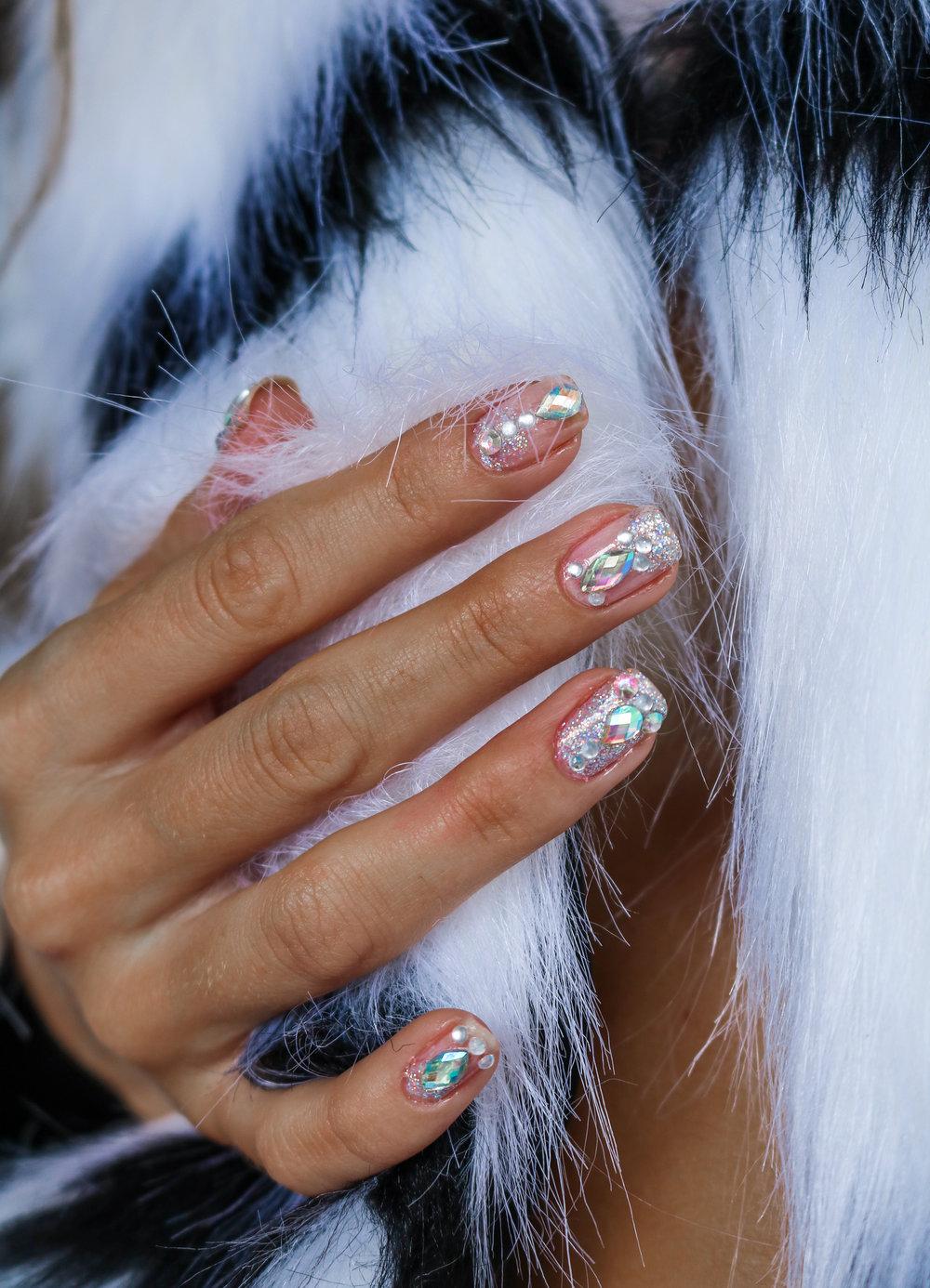 The Hungarian Brunette Festival crystal nail art