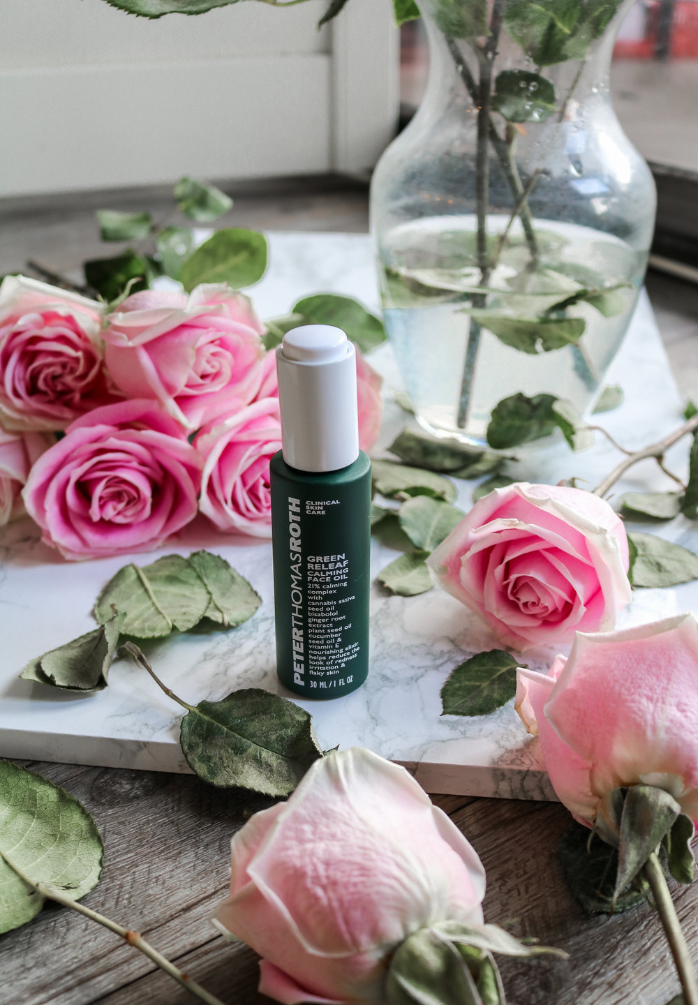 The Hungarian Brunette Peter Thomas Roth green releaf calming face oil review