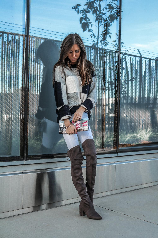The Hungarian Brunette colourblock sweater, white jeans, otk boots (6 of 13).jpg