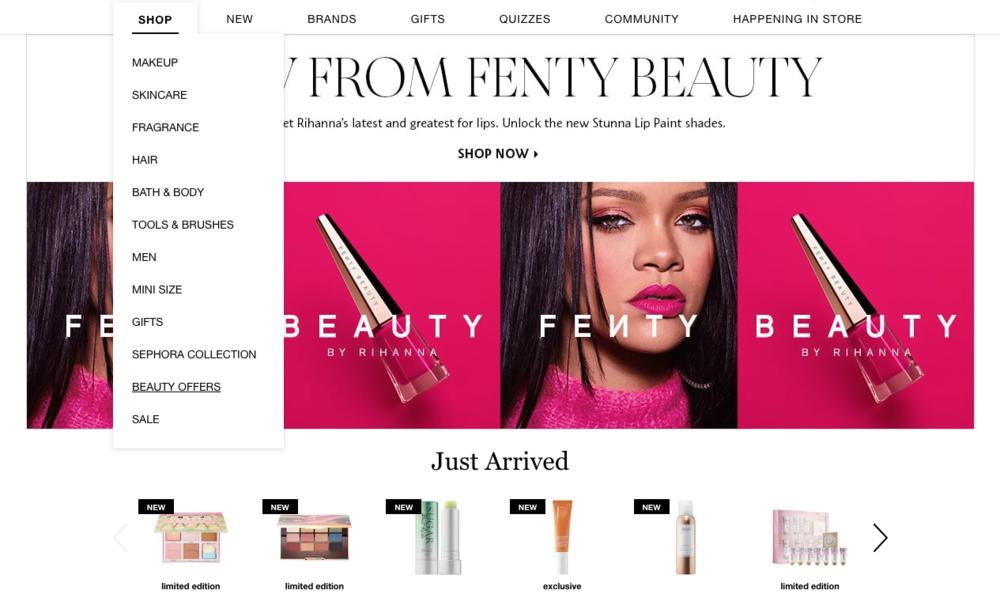 The Hungarian Brunette shopping at Sephora screenshot