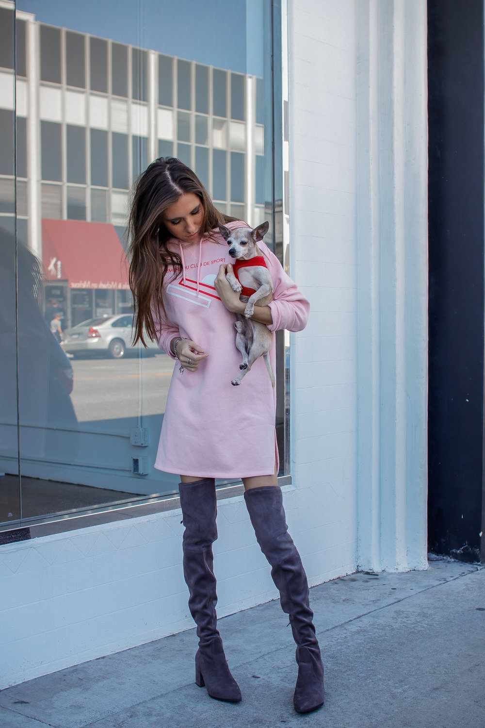 The Hungarian Brunette Pink sweater dress and OTK boots (1 of 11).jpg