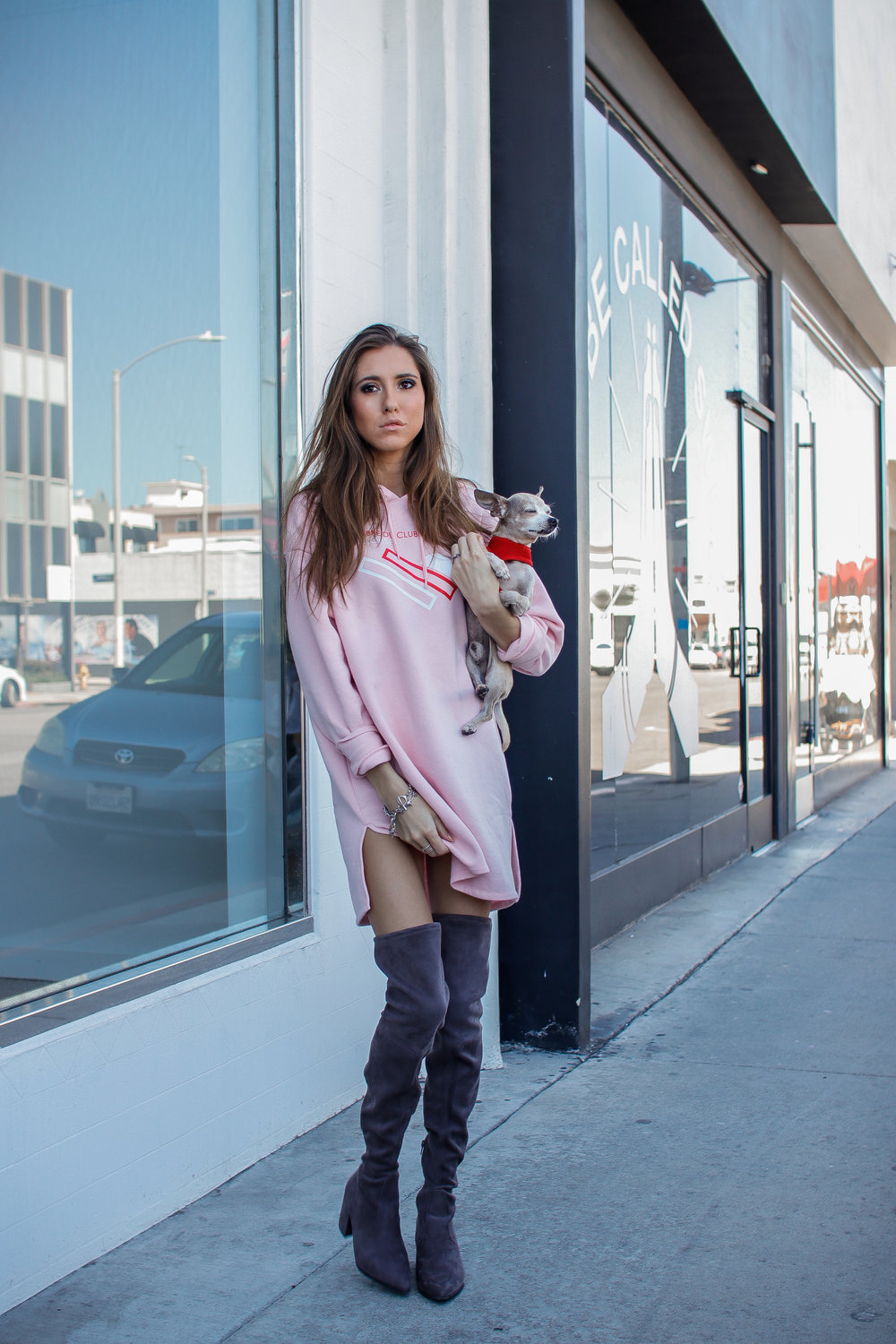 The Hungarian Brunette Pink sweater dress and OTK boots (6 of 11).jpg