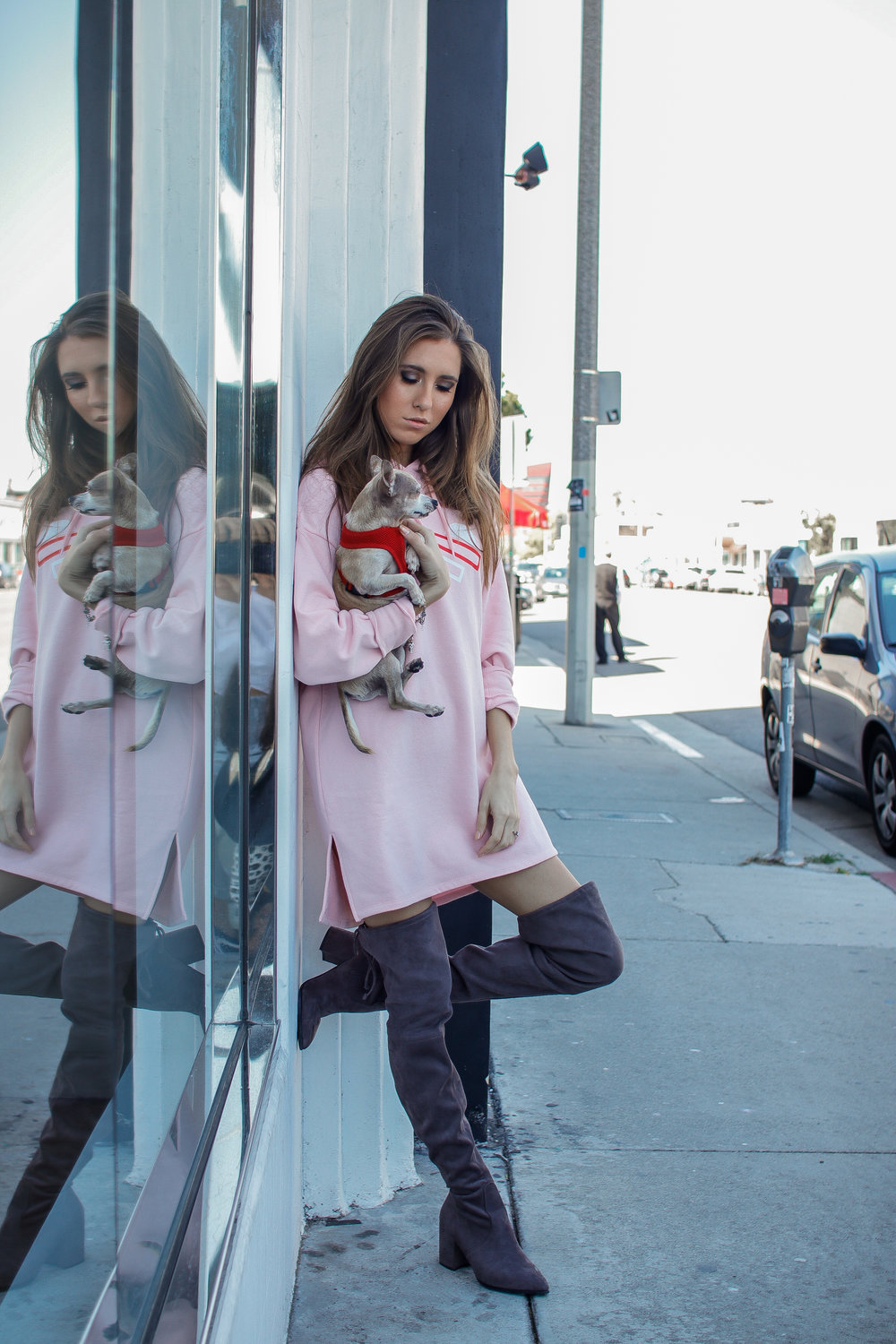 The Hungarian Brunette Pink sweater dress and OTK boots (10 of 11).jpg
