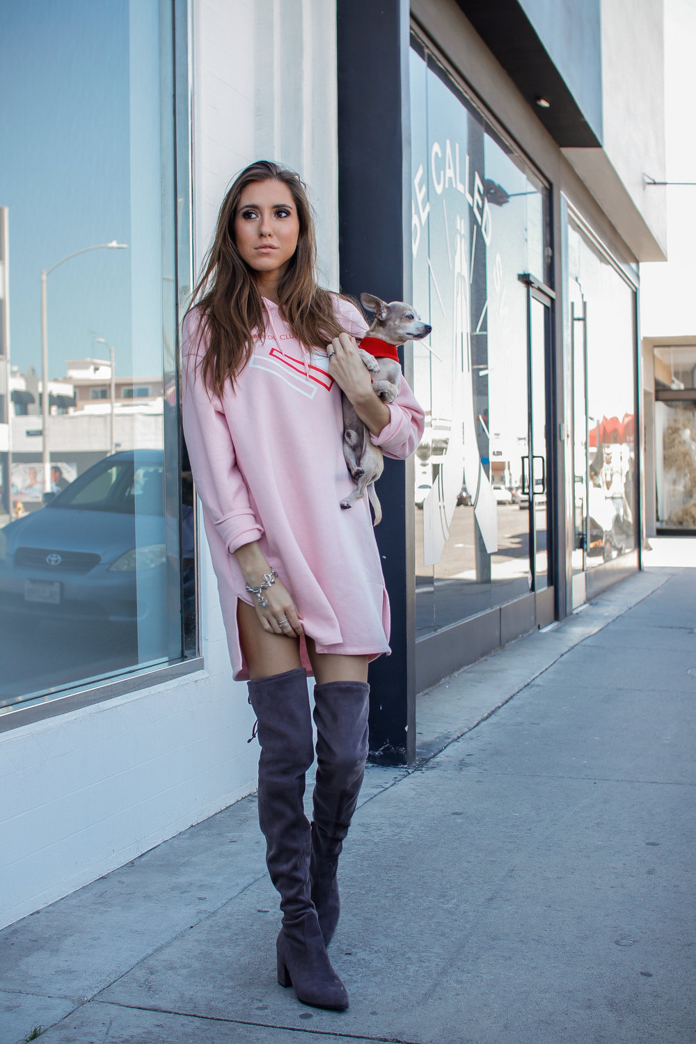 The Hungarian Brunette Pink sweater dress and OTK boots (7 of 11).jpg