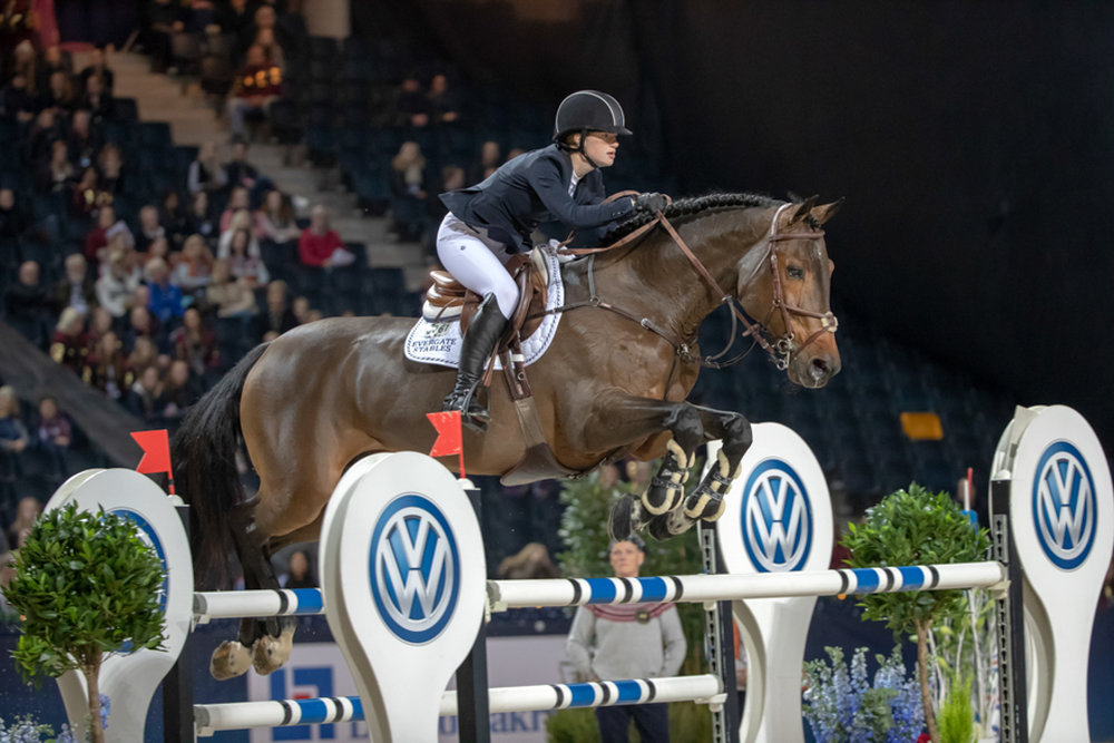 Jenn Gates and Capital Colnardo at the Sweden International Horse Show.  Photo by Roland Thunholm.