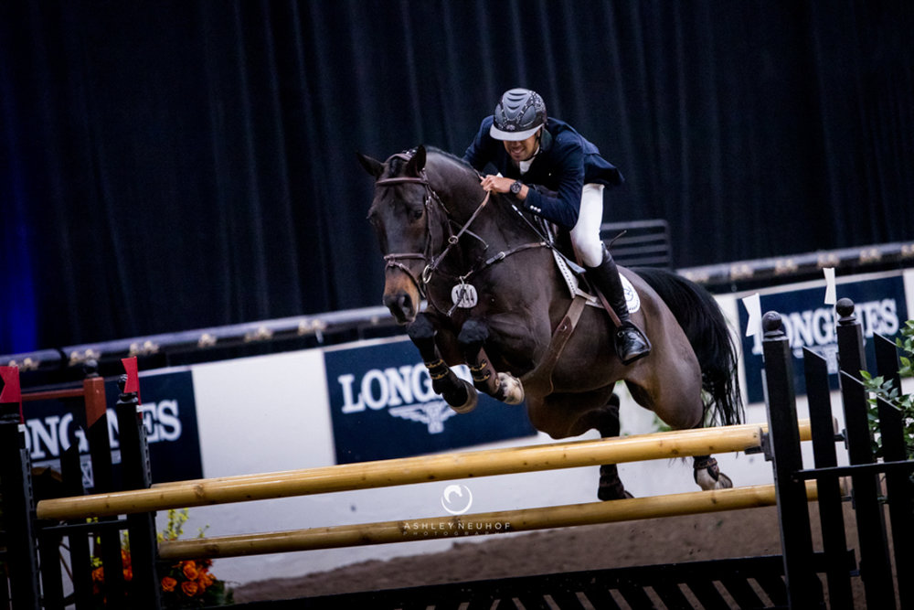 Nayel Nassar and Lucifer V at the Las Vegas National Horse Show. Photo by Ashley Neuhof Photography.
