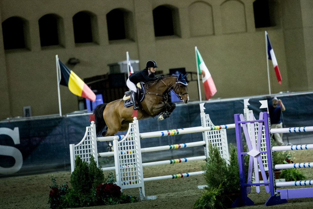 Jenn Gates and Alex at the Del Mar International Horse Show. Photo by Ashley Neuhof Photography.