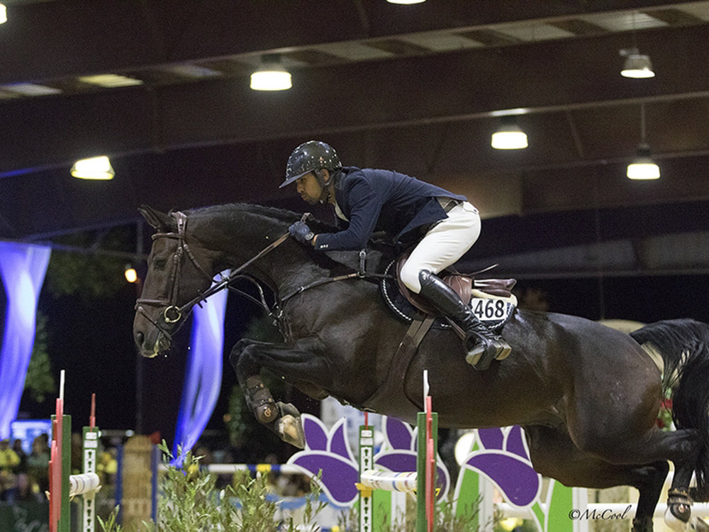 Nayel Nassar and Lucifer V at the Sacramento International Horse Show. Photo by McCool Photos.
