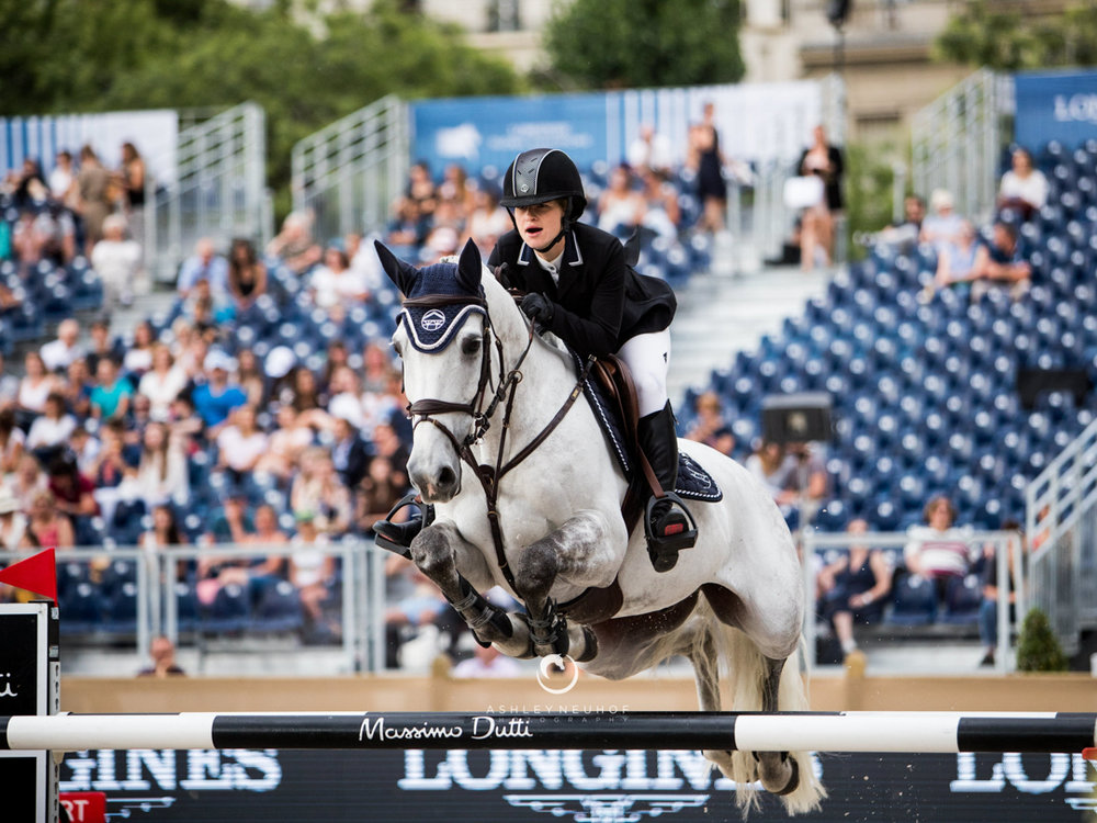 Jenn Gates and Luftikus S at 2018 Global Champions Tour of Paris. Photo by Ashley Neuhof Photography.