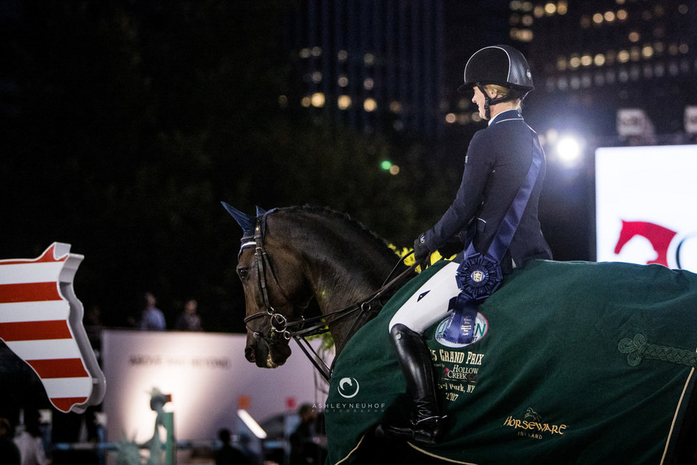 Jenn Gates and Alex at the 2017 Rolex Central Park Horse Show. Photo by Ashley Neuhof Photography.