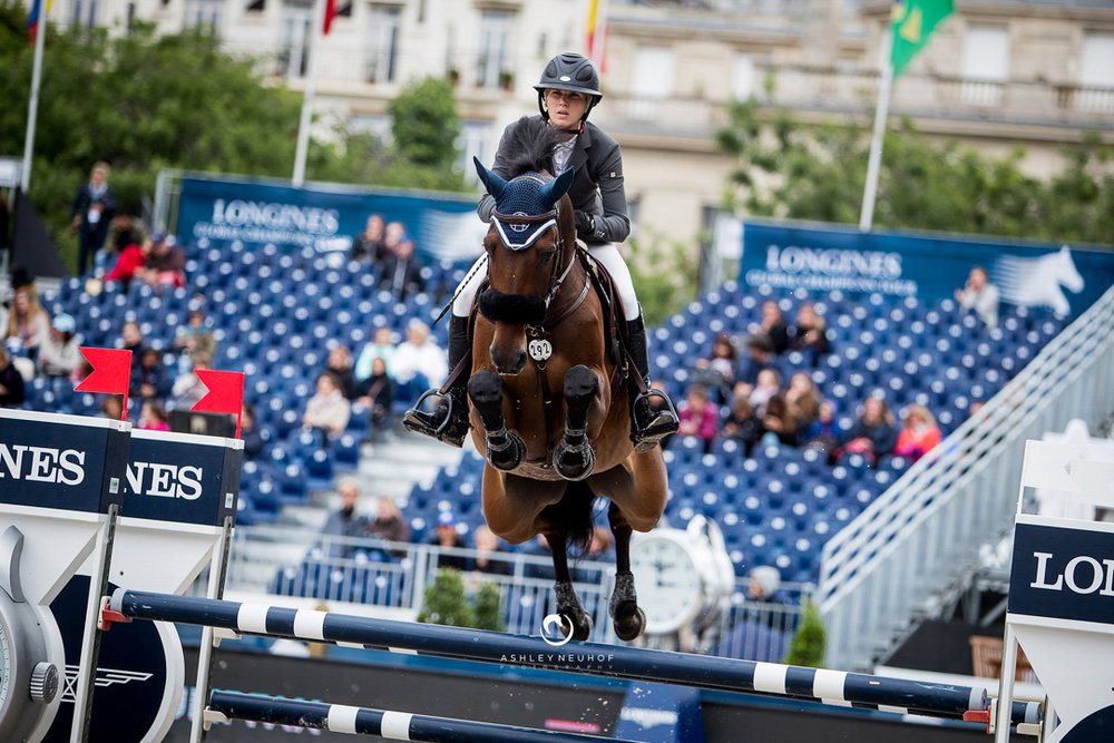 Sayre Happy and Turner St. Ghyvan Z at the 2017 Global Champions Tour of Paris. Photo by Ashley Neuhof Photography.