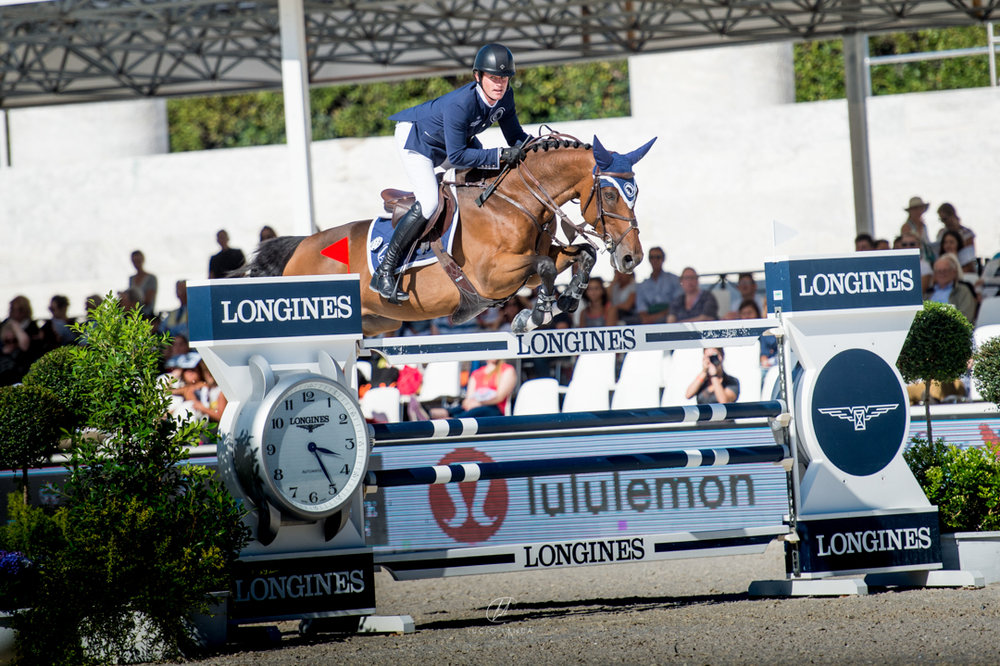Darragh Kenny and Team de Coquerie at the 2017 Global Champions League of Rome. Photo by Lucio Landa Photography.