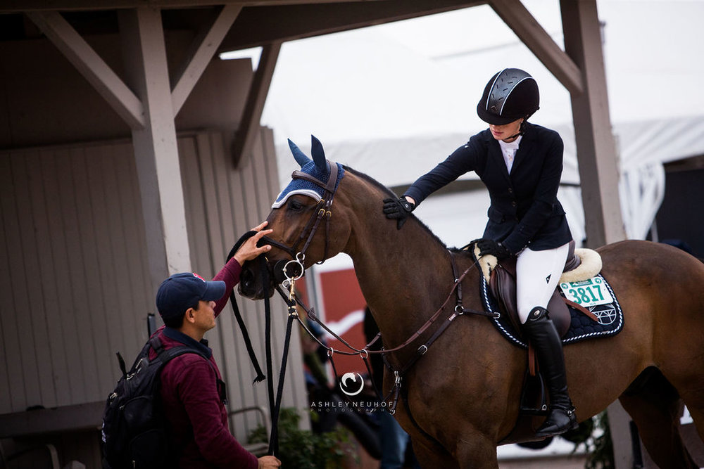 Jenn Gates and Alex with at Winter Equestrian Festival 2019. Photo by Ashley Neuhof Photography.