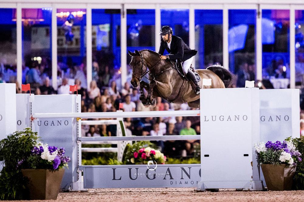 Nayel Nassar with Lucifer V at Winter Equestrian Festival 2019. Photo by Ashley Neuhof Photography.