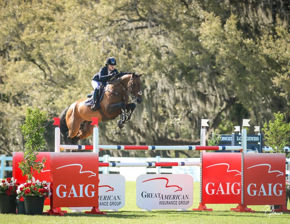 Jenn Gates and Capital Colnardo at Live Oak International 2019. Photo by Erin Gilmore Photography.