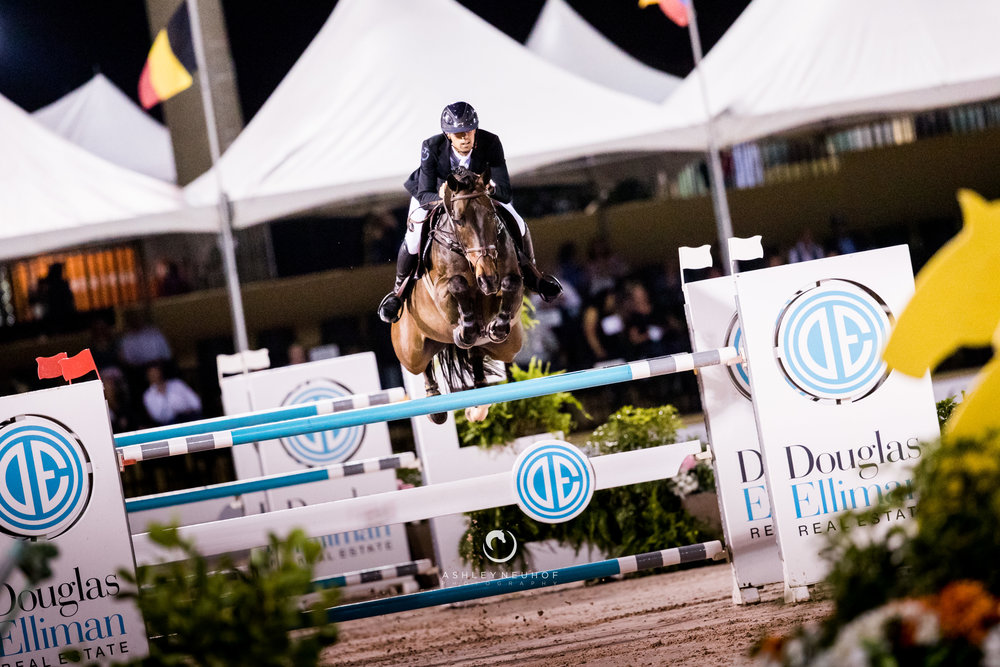 Nayel Nassar and Lucifer at the 2019 Winter Equestrian Festival. Photo by Ashley Neuhof Photography.