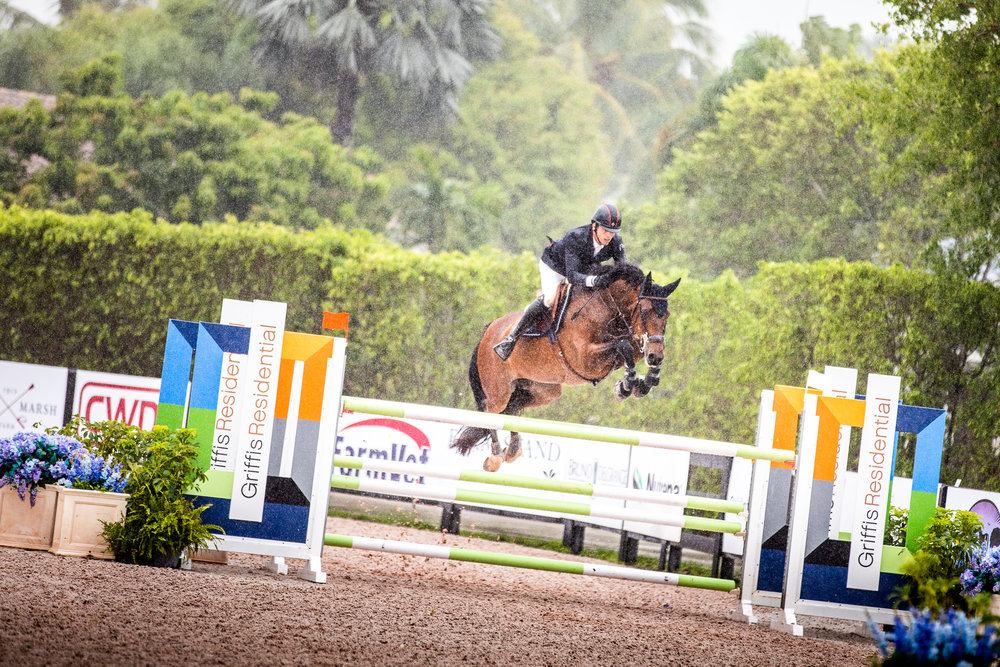 Harrie Smolders and Celena VDL at Winter Equestrian Festival 2019. Photo by Ashley Neuhof Photography.