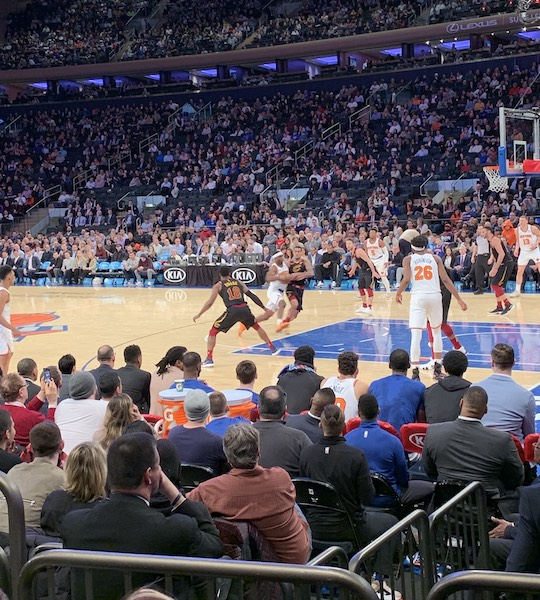 The view from our seats for last night's game