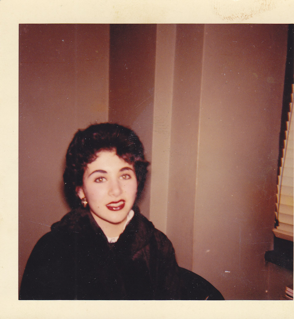 At Home Jamaica,Queens , Getting ready for a nite out. 1958