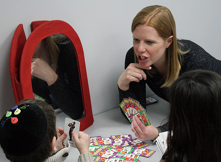 All of our speech and language pathologists are state licensed and credentialed through the American Speech-Language-Hearing Association (ASHA). - Our speech-language pathologists assess and treat:• Expressive and Receptive language skills• Social-pragmatic language• Articulation delays• Phonological development• Oral-motor development• Feeding and swallowing challenges• Fluency disorders• Auditory processing and language processing difficulties• Developmental delays• Apraxia• A variety of genetic and developmental syndromes/conditions