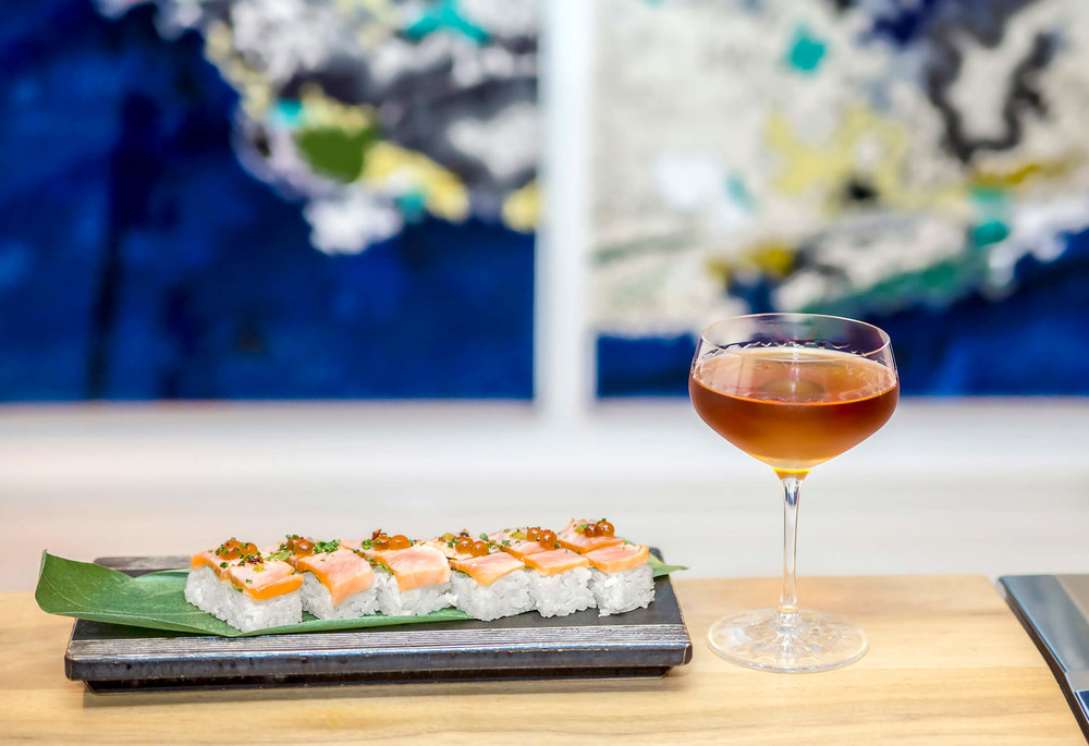 Mrs. Fish Sushi Art Whisky DTLA